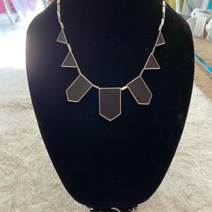 House of Harlow Black & Silver station necklace